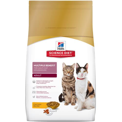 Hill's Science Diet Chicken Recipe Premium Natural Adult Cat Food - 15.5lbs
