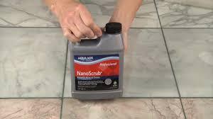 remove grout haze from polished marble with aqua mix nanoscrub