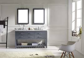 Shabby Chic White Bathroom Vanity by Virtu Md 2260 Wmsq Gr Caroline Estate Double Bathroom Vanity