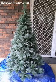 Christmas Tree Flocking Spray by Snowy Spray Painted Christmas Tree