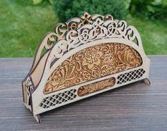 Housewarming Gifts Wooden Napkin Holder Kitchen Decor Serviette Sculpture Wood Art Rustic Gift For Mum