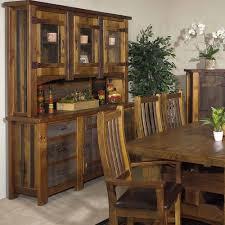 Heritage Silver Falls Reclaimed Barn Wood Hutch 3 Glass Doors