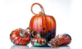 Glass Blown Pumpkins Seattle by Bio Jack Pine Studio