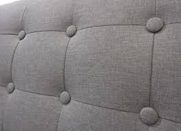 tissu canapé canapé en tissu gris et blanc 3 places torvald achatdesign