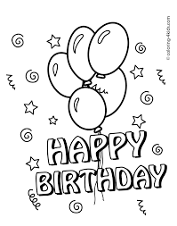 Printable Birthday Coloring Pages For Beatiful Draw Page