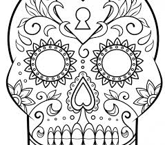 Sugar Skull Coloring Pages Day Of The Dead Page Free Printable Images
