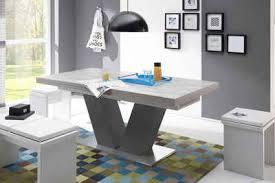 esstisch komfort d mit v gestell in graphit und mit auszugsfunktion breite 160 260 cm