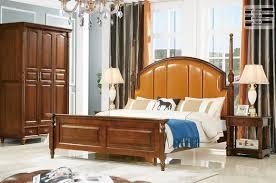 schlafzimmer set bett 2x nachttisch chesterfield holz leder betten polster 803