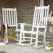 White Rocking Chair Outdoor Shop Garden Treasures White Patio ...