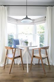 Awesome Breakfast Ideas Dining Room Farmhouse With Wood Chairs White Curtains