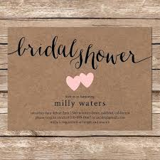 Etsy Wedding Shower Invitations In Addition To Printable Bridal Invitation Rustic Paper On