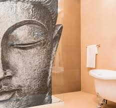 duschkabinen folie buddha figur