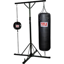 title double trouble heavy bag stand with bag title boxing