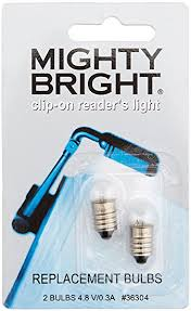 mighty bright clip on reader replacement light bulbs