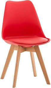 clp esszimmerstuhl kunststoff i stoff i samt i kunstleder i lehnstuhl mit holzgestell i kunststoffstuhl mit buchenholz farbe rot