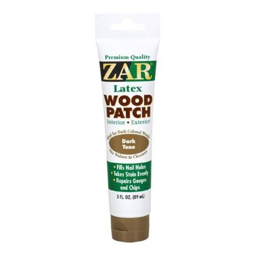 Zar 30441 Latex Wood Patch Dark Tone, 3 oz
