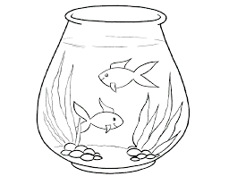 Animal Coloring Empty Fish Bowl Page Constellation
