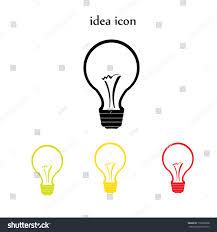 vector flat lightbulb idea icon collection stock vector 179992868