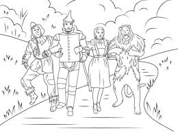 Click To See Printable Version Of Scarecrow Tin Man Dorothy And Cowardly Lion Coloring Categories Wizard Oz