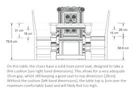 Standard Dining Room Chair Height Average Of Table Kitchen Best Concept