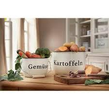 details zu kartoffel zwiebel 2 x topf behälter gemüse vorratsdose aufbewahrung landhaus