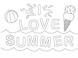 I Love Summer Coloring Page Filed Under Printable