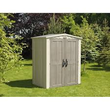 keter factor 5 ft 10 in w x 3 ft 9 in d plastic tool shed