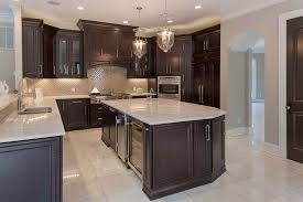 traditional kitchen with l shaped pendant light in ny