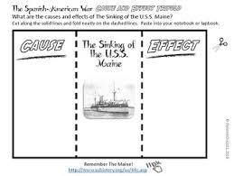 spanish american war interactive notebook activities with primary