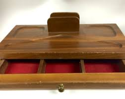 Mens Wooden Dresser Valet by Mens Catchall Etsy