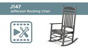 POLYWOOD® J147 - Jefferson Rocking Chair Assembly Video Polywood Pws11bl Jefferson 3pc Rocker Set Black Mahogany Patio Wrought Iron Rocking Chair Touch To Zoom Outdoor Cu Woven Traditional That Features A Comfortable Curved Seat K147fmatw Tigerwood With Frame Recycled Plastic Pws11wh White Outdoor Resin Rocking Chairs Youll Love In 2019 Wayfair Wooden All Weather Porch Rockers Vermont Woods Studios