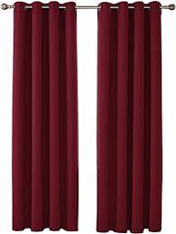 umi by 2 schals ösenvorhang blickdicht gardine schlafzimmer 260x140 cm rot