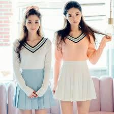 Skirt Mini Pleated Korean Fashion Style Kfashion Pastel Fairy Kei Kawaii Mori