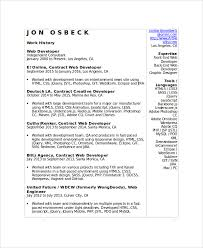 Sample Web Developer Resume 7 Free Documents Download In Word Pdf For Website Examples