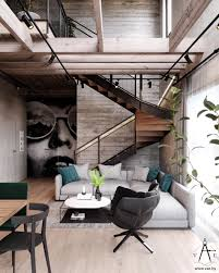 100 Loft Style Home Warm Industrial House With Layout Arquitectura
