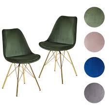 finebuy esszimmerstuhl 2er set samt küchenstuhl mit goldenen beinen schalenstuhl skandinavisches design polsterstuhl mit stoffbezug stuhl