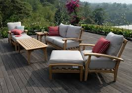 Ebay Patio Furniture Cushions by 7 Piece Teak Wood Outdoor Patio Seating Set