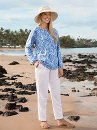 Womens Drawstring Pants Beach