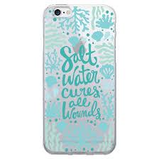 iPhone 7 6s 6 OTM Prints Clear Phone Case Salt Water Cures Reef