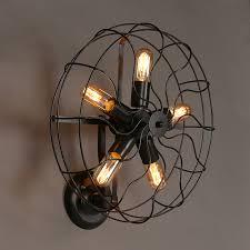 Industrial Retro Rustic Loft Style Fan Shape Wall Sconce Lighting