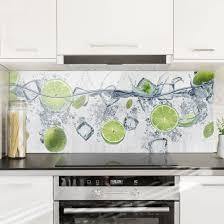 spritzschutz glas erfrischende limette panorama küche