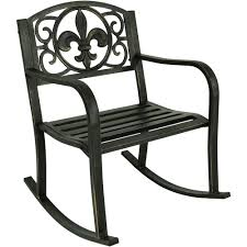 Sunnydaze Decor Fleur-de-Lis Black Cast Iron Outdoor Rocking Chair 1960s Rocking Chair In Red Plastic Strings On Black Metal Frame Wicker Grey At Home Details About Lawn Rocker Patio Fniture Garden Front Porch Outdoor Fleur Chairs Coffee Table Mesh Rare Salterini Radar Wrought Iron Scrollwork Design Decorative Deck Monceau Chair For Outdoor Living Space Staton Amazonin Kitchen Amazoncom Mygift Dark Brown Woven Metal Patio Rocking Chairs Carinsuncerateszipco Hampton Bay Wood