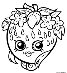 Shopkins Strawberry Smile Coloring Pages Printable And Book To Print For Free Find More Online Kids Adults Of