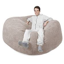 King Fuf Bean Bag Chair by Amazon Com Lounge Pug Mega Mammoth Beanbag Ivory Cord Massive