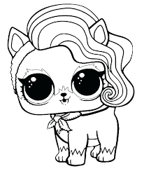 Prise Pets Coloring Pages Fur Lol Surprise Bonbon Pet