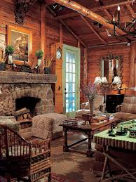 40 Rustic Country Cabin With A Stone Fireplace For Romantic Get Away 10