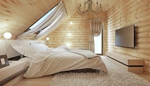 schlafzimmer idee dachzimmer im landhausstil mit großem bett