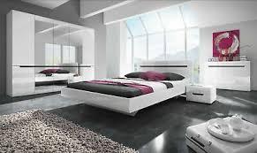 schlafzimmer set 5 tlg galaxy inkl doppelbett 160cm und schrank 225cm ebay