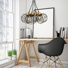 pendelleuchte wohnzimmer esstisch schwarz metall