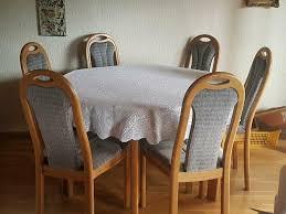 esszimmer buche massiv tisch mit 6 stühlen